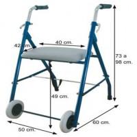 Andarilho com 2 rodas e assento
